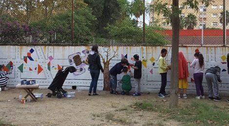 Mural participatiu 30 anys Artistes de la Marina