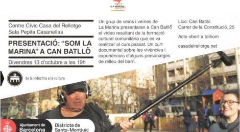 Presentació de 'Som la Marina' a Can Batlló